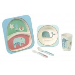 Set vajilla bebé Jané 5 piezas Bambú Microondas Ecofriendly
