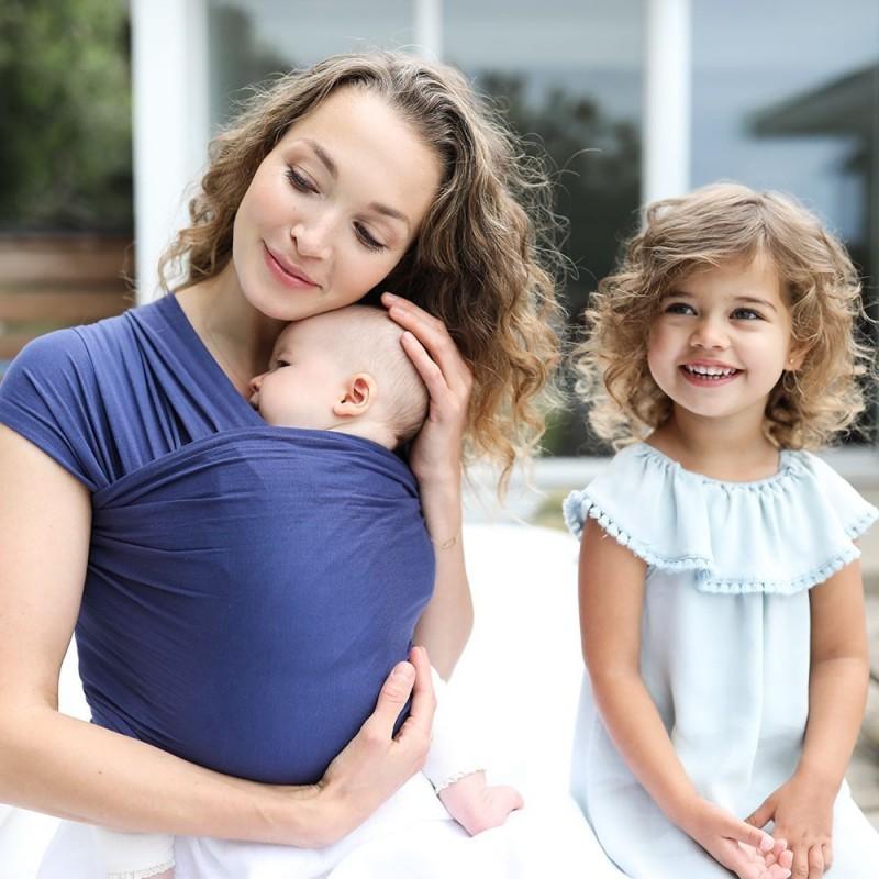 Fular Ergobaby Baby Wrap Aura indigo azul