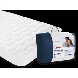 Cubrecolchon-Protector acolchado de cuna Moshy Microcell 60x120