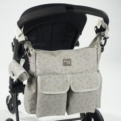 Bolso cochecito Walking Mum Tic-tic gris