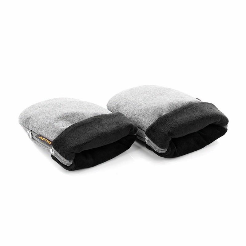 Guantes manoplas Jané textil gris Denim - polar negro S45 Soil
