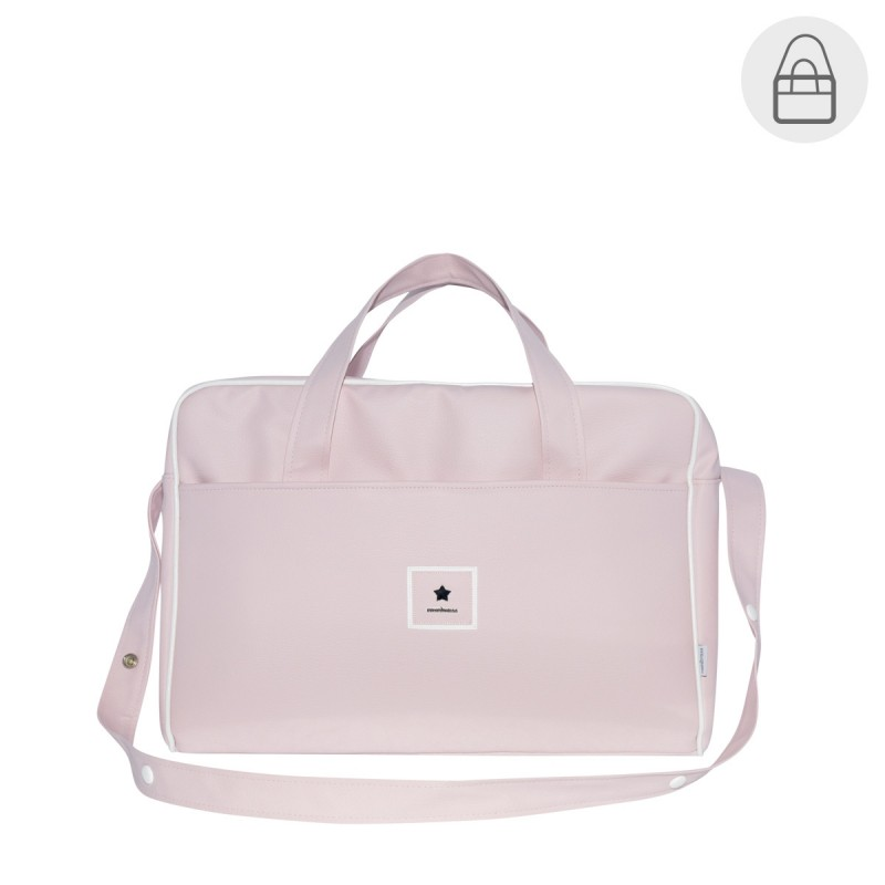 Bolso maternal hospital viaje Cambrass maletin Basic rosa