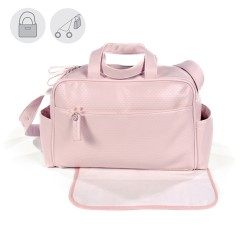 Bolso maternal hospital viaje canastilla Pasito a Pasito New Cotton rosa