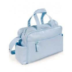 Bolso maternal hospital viaje canastilla Pasito a Pasito New Cotton azul