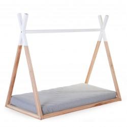 Cama Motessori Tipi Childhome madera natural 70x140