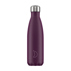 Botella termo Chilly's PURPURA MATE 500ML