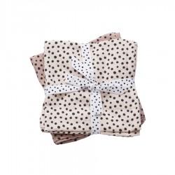 Pack 2 muselinas Happy Dots rosa