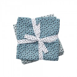 Pack 2 muselinas Happy Dots azul