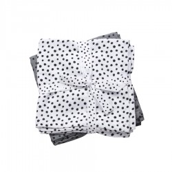 Pack 2 muselinas Happy Dots gris
