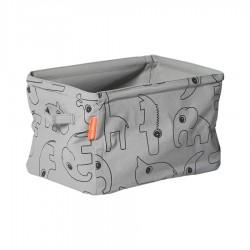 Cesta de almacenamiento reversible gris