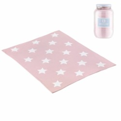 Manta algodón Cambrass Star Rosa