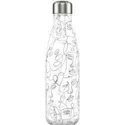Botella termo Chilly's DRAWING CARAS 500 ml.