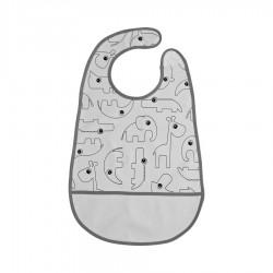 Babero Velcro Contour gris