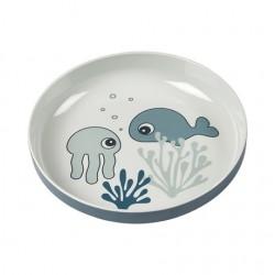 Plato Yummy mini Sea friends azul