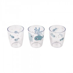 Vasos Yummy mini 3u Sea friends Azul