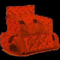 Bolso-Trona Elevador con compartimentos Jané Avant T T79 Powder rosa