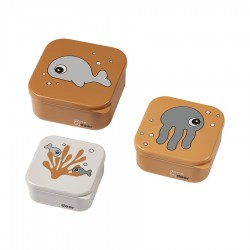 Set 3P Snack box Sea friends Mostaza