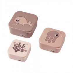 Set 3P Snack box Sea friends Rosa