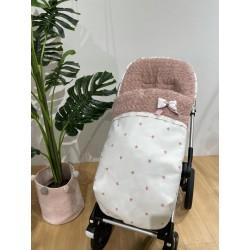 Saco silla Rapacinos polipiel Estrella bordada rosa