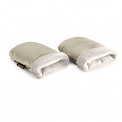 Guantes manoplas Jané neutral polipiel beige crema - polar beige S19