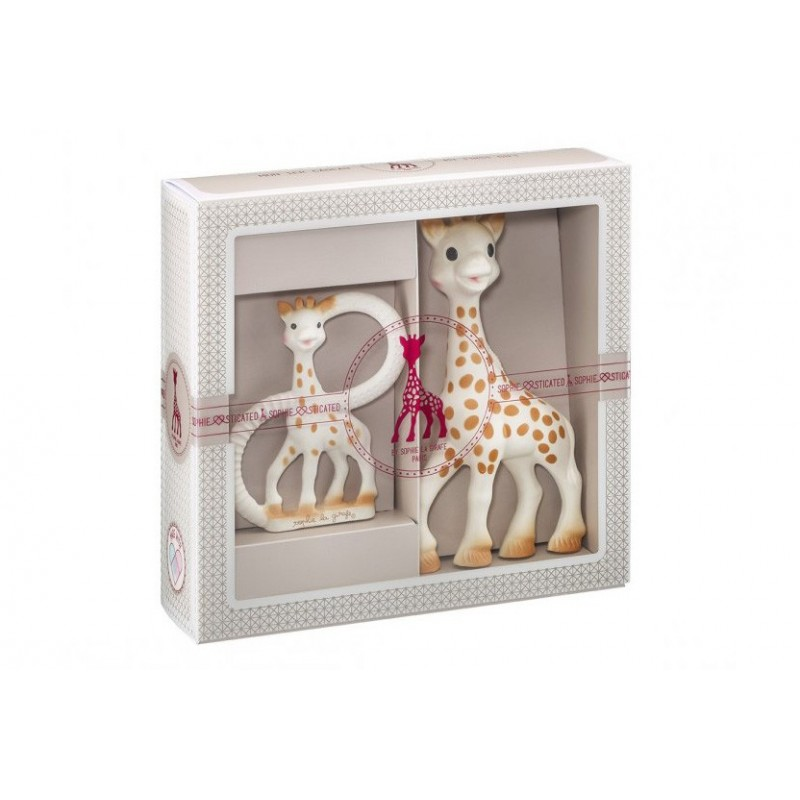 Set regalo Juguete mordedor jirafa Sophie la Girafe + Anillo denticion