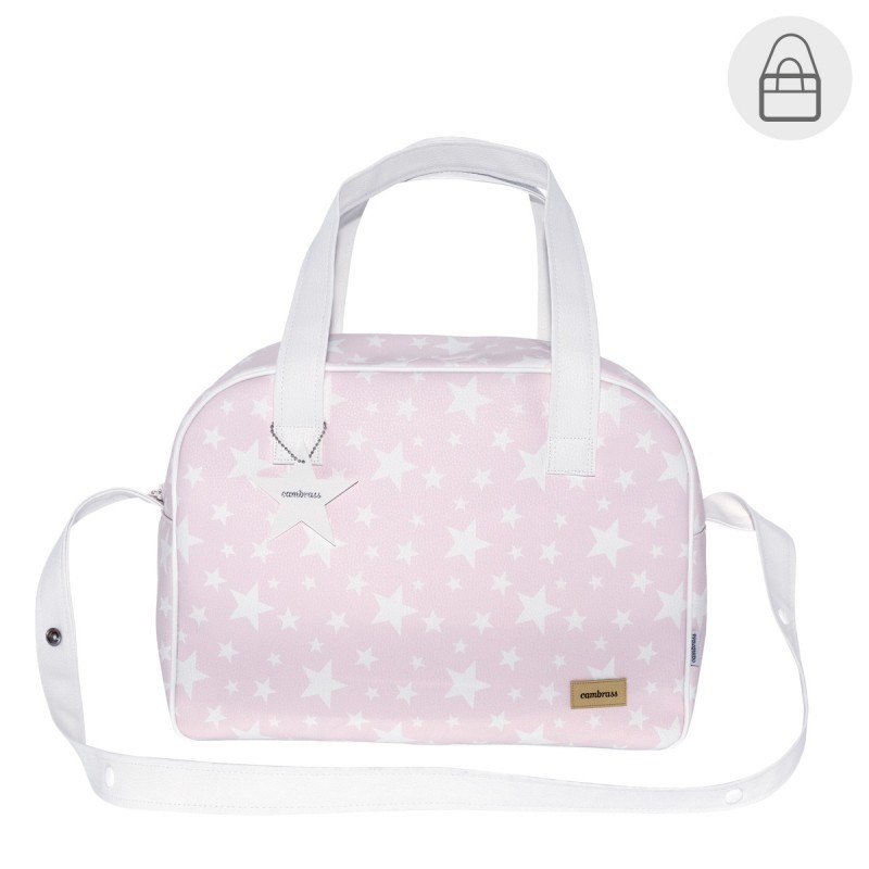 Bolso maternal hospital viaje Cambrass Prome Etoile rosa