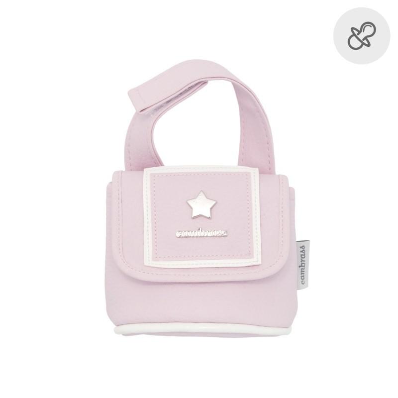 Portachupetes Cambrass Basic rosa