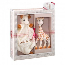 Set regalo Juguete mordedor jirafa Sophie la Girafe + Doudou
