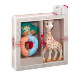 Set regalo Juguete mordedor jirafa Sophie la Girafe + Sonajero Sense Soft