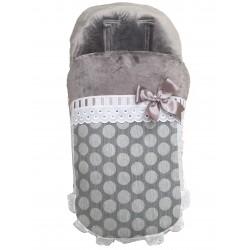 Saco de silla Universal invierno 1799 Topo Grande gris-polar gris