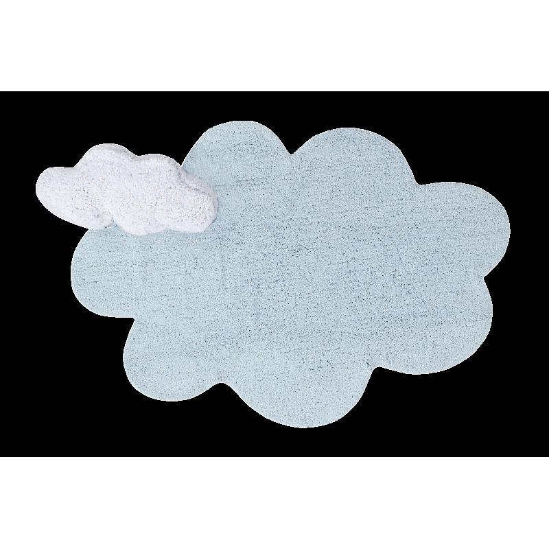 Alfombra Lorena Canals lavable Puffy Dream azul 110x170