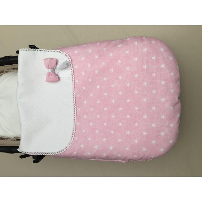 Saco capazo Colcha RA1200 Estrellitas rosas-blanco