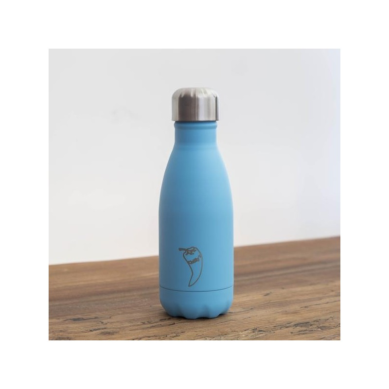 Botella termo Chilly's Edicion Pastel Azul 260ml