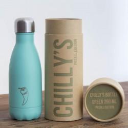 Botella termo Chilly's Edicion Pastel Menta 260ml