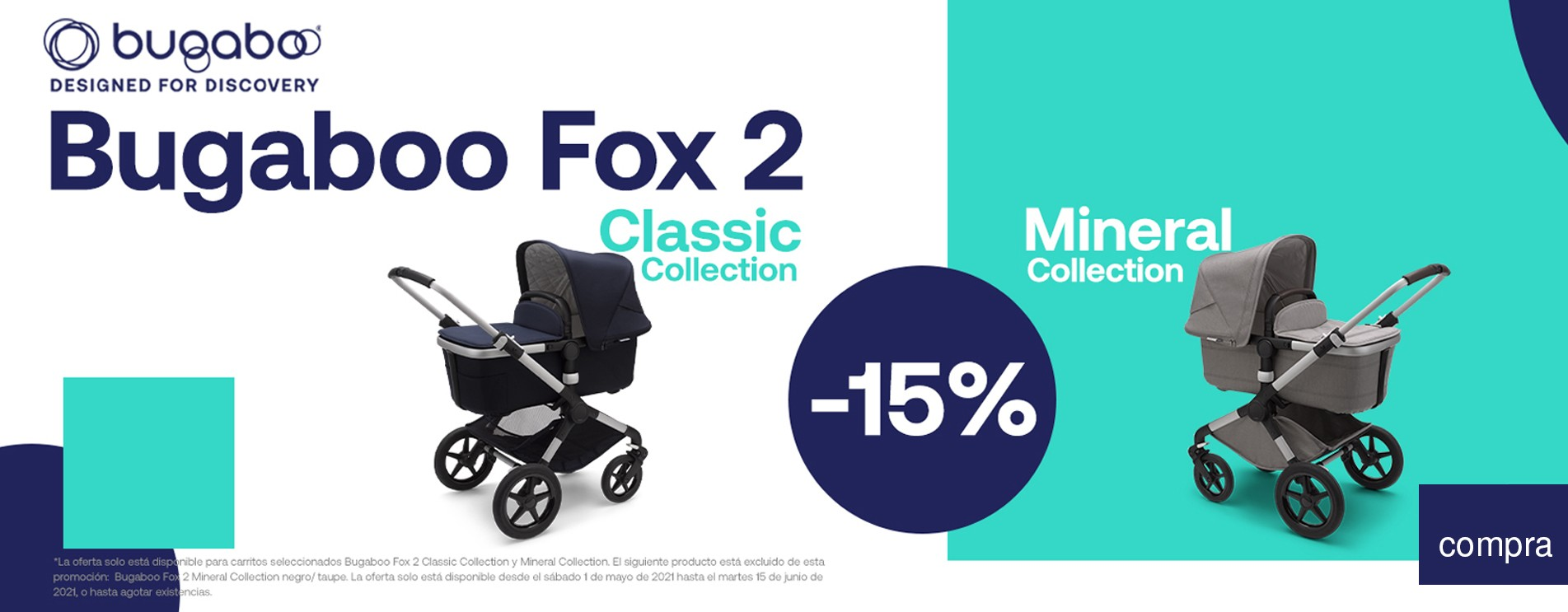 Promo Bugaboo Fox2 Mineral y Classic collection